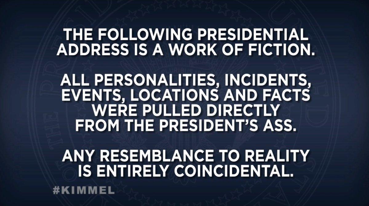Did anyone else see this before Trump's speech last night? #TrumpAddress