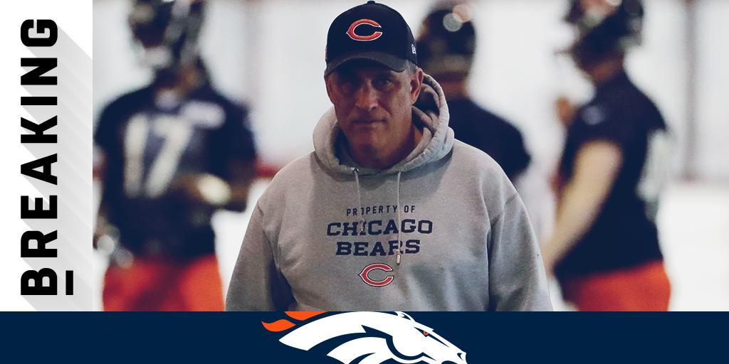 .@Broncos expected to hire Bears DC Vic Fangio as head coach: https://t.co/dDKTF3Usae (via @RapSheet) https://t.co/32NFuRkAxx