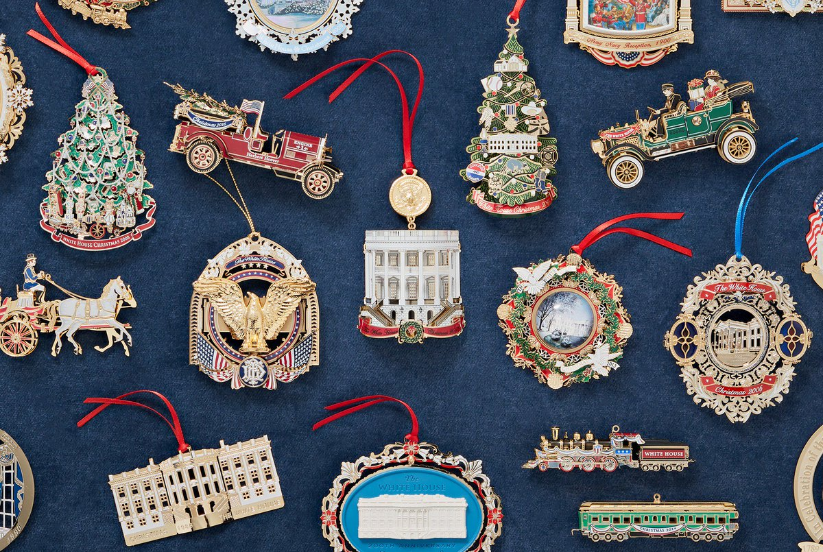 White House Christmas Ornament 2019.White House History On Twitter All Our Ornaments Are On