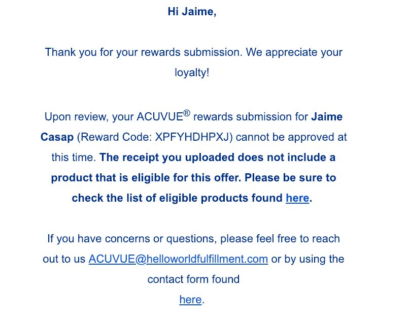 Jaime Casap On Twitter Here S My Experience With Acuvue