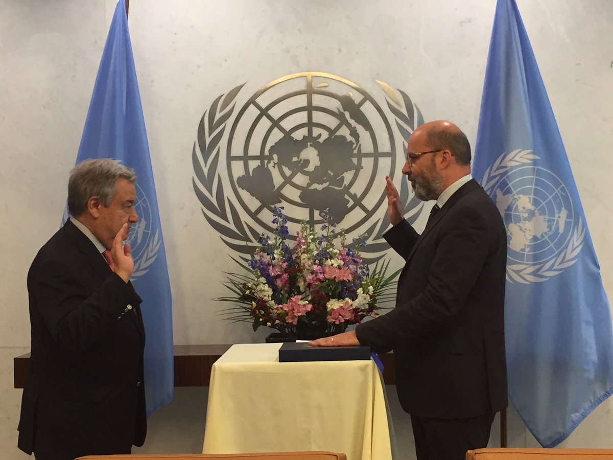 Deeply honoured to take my oath of office as the Assistant Secretary General for Development Coordination @ the UN. And to commit myself to the major changes ahead - to revitalize and reposition the UN development system on the road to the Sustainable Development Goals. @UN_SDG