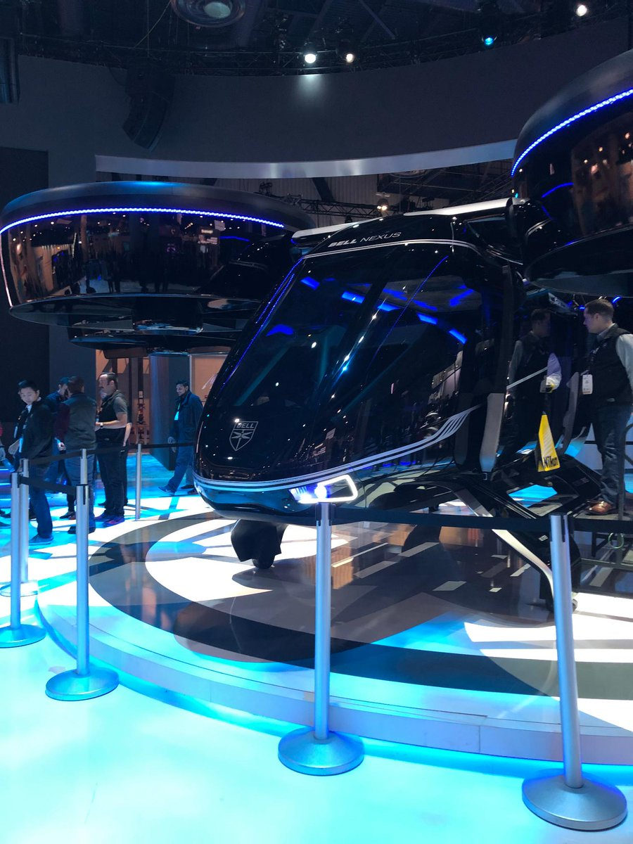 Flying taxis aren't just science-fiction anymore. @BellFlight shows off their Nexus flying taxi at #CES2019