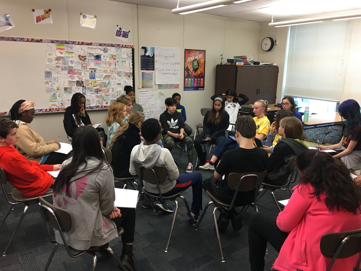 Loved seeing Socratic seminar in 7th grade today. They discussed the WL name change! <a target='_blank' href='http://twitter.com/JeffersonELA'>@JeffersonELA</a> <a target='_blank' href='http://twitter.com/JeffersonIBMYP'>@JeffersonIBMYP</a> <a target='_blank' href='http://twitter.com/APSGifted'>@APSGifted</a> <a target='_blank' href='http://twitter.com/mslarsontjms'>@mslarsontjms</a> <a target='_blank' href='https://t.co/Jdqy3LwPoN'>https://t.co/Jdqy3LwPoN</a>