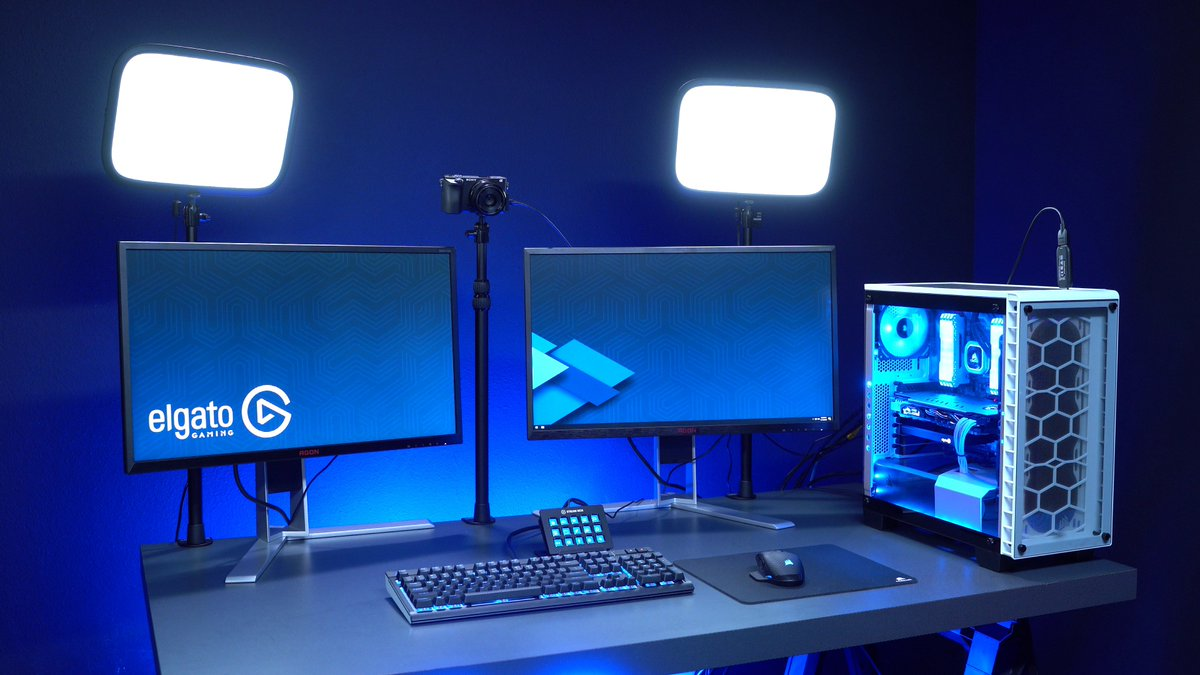 🔑💡GIVEAWAY TIME:  Want your creator cave to be lit? We're giving away a set of Elgato Key Lights to one lucky winner - RT + follow to enter!