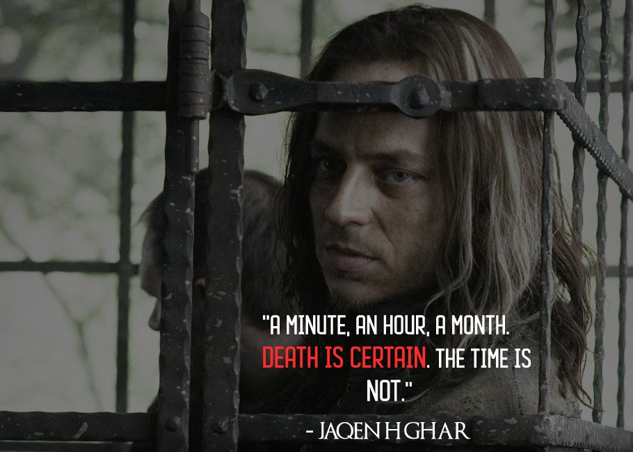 &#39;&#39;A minute, an hour, a month. Death is certain. The time is not.&#39;&#39; - Jaqen H&#39;ghar  #GOT  #GameOfThrones  #GotS8  #GameofThronesSeason8 #GameOfThronesSeason7 #JaqenHgar<br>http://pic.twitter.com/TYhjt9zcWj