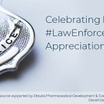 Image for the Tweet beginning: #PsychU honors #PoliceOfficers today on