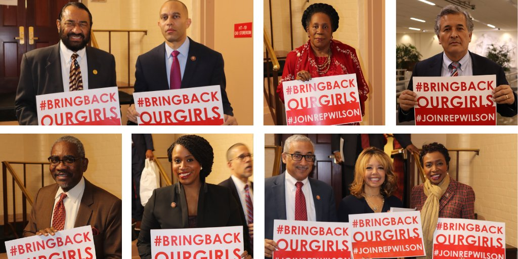 My colleagues and I are keeping the fight alive to #BringBackOurGirls!