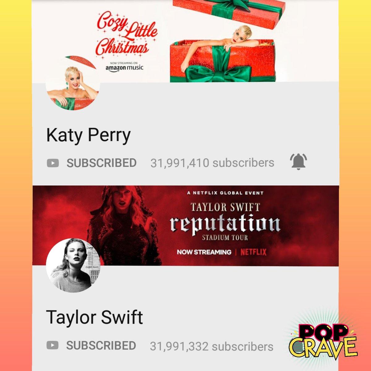 Katy Perry e Taylor Swift praticamente igualam seus inscritos no YouTube e fazem disputa acirrada pelo #1
