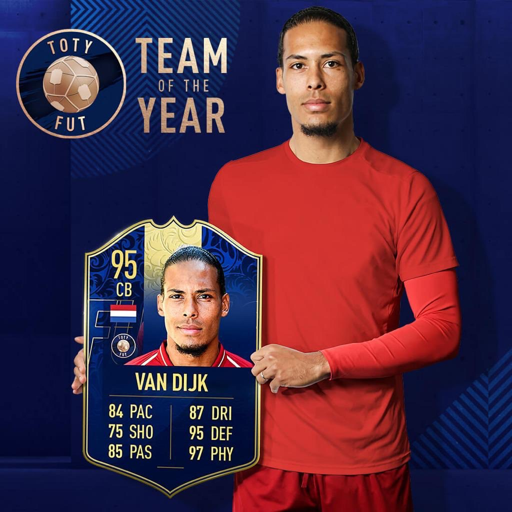 Thanks to everyone who voted for me! Buzzing to make the #FIFA19 team of the year 🔥 97 Physicality 👀 😂💪🏾 #TOTY #FIFA19 #FUT @EASPORTSFIFA