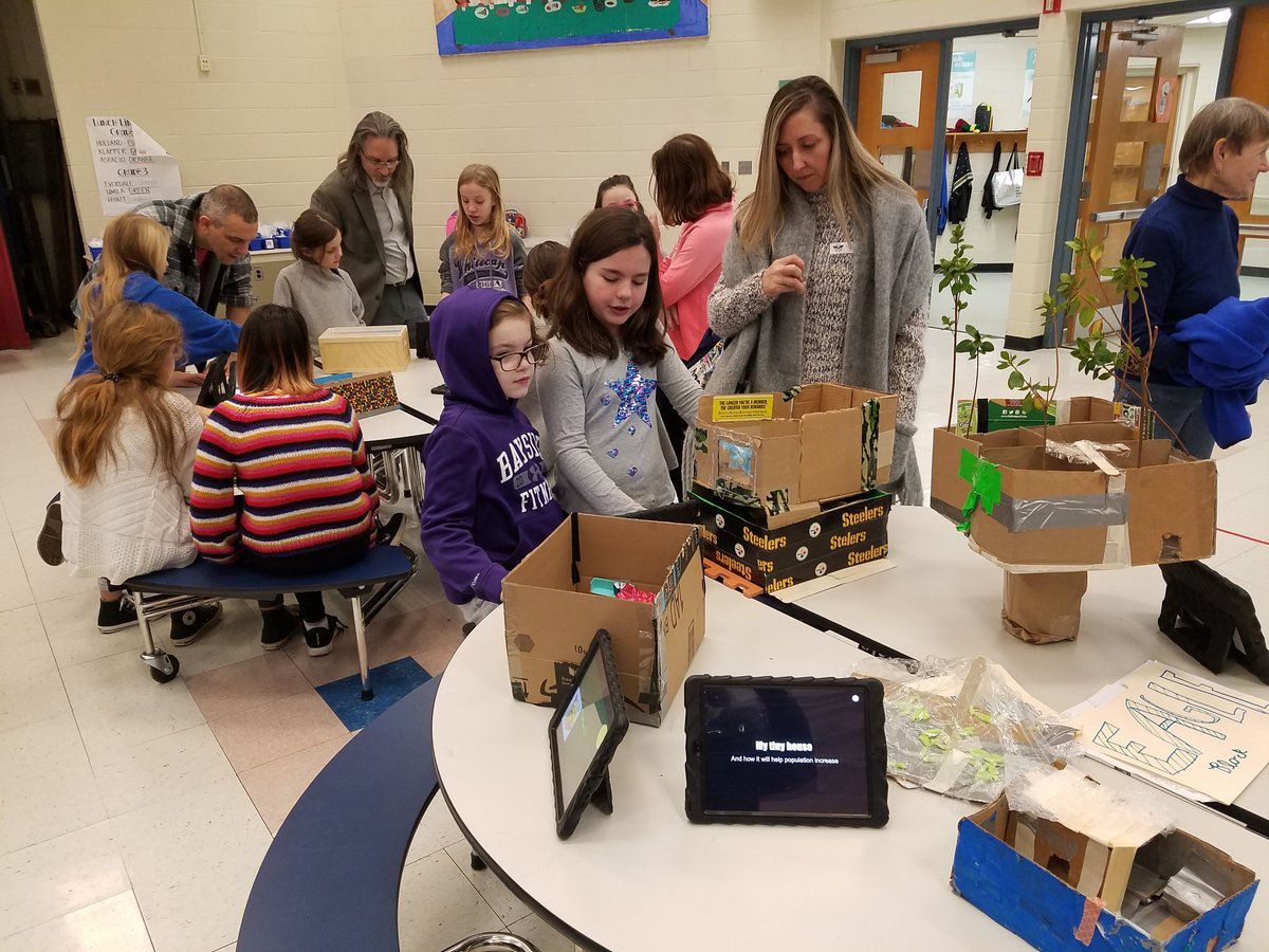 If children ruled the world....these kiddos were tasked with solving the affordable housing issue in Arlington. Research &amp; innovation! The 4th and 5th graders recommend tiny houses, green roofs, elevated homes, shared common areas and more! <a target='_blank' href='https://t.co/K8rhaupra4'>https://t.co/K8rhaupra4</a>