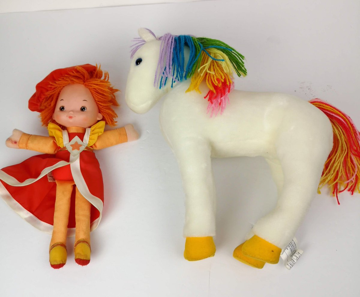 onlytrueblue on twitter starlight rainbow brite horse and lala orange rag doll 10 in hallmark 1983 lot 2 soft body toys toys ragdoll softtoys rainbowbrite https t co 5elmcpq95k https t co 1nu2lsrd2f starlight rainbow brite horse