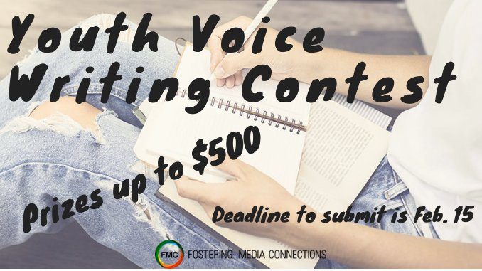test Twitter Media - ⚠️ Calling all youth writers! ⚠️ We are now accepting submissions for our 2019 Youth Voice Writing Contest! Youth aged 18-24 who have experienced the foster care or juvenile justice systems are eligible to participate.   More details at https://t.co/mA6GNbNk5W https://t.co/HLulvtbalr