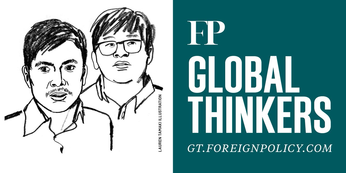 For their fearless reporting on the violence against the Rohingya in Myanmar, jailed @Reuters journalists Wa Lone and Kyaw Soe Oo are two of 2019's #FPGlobalThinkers.  Read more here: https://foreignpolicy.com/2019-global-thinkers/?thinker=Wa-Lone-and-Kyaw-Soe-Oo…