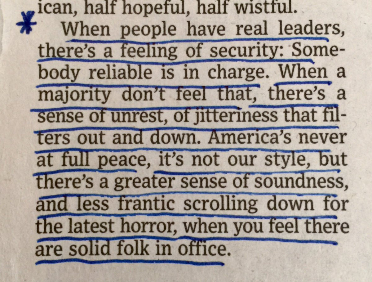 """Some wise words on leadership from @Peggynoonannyc - """"...the future is watching."""""""