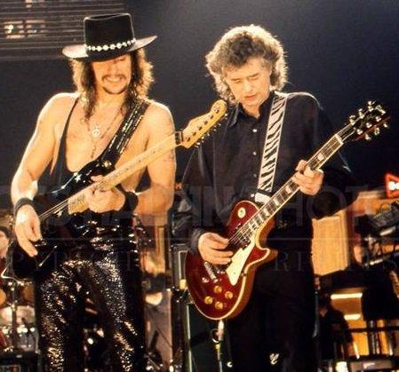 Richie Sambora And Jimmy Page