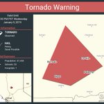 Image for the Tweet beginning: Tornado Warning continues for Oroville