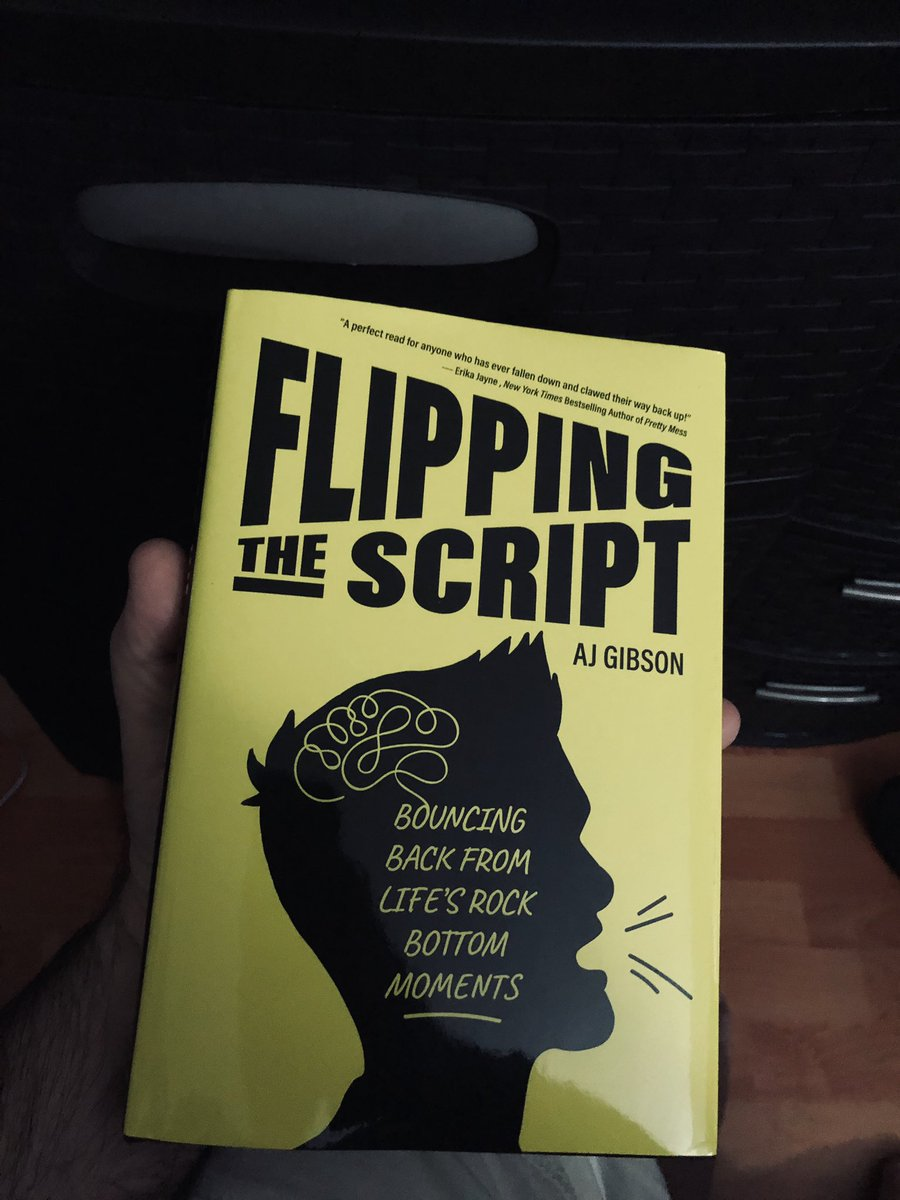 Been going through a lot lately and @AJGibson #FlippingTheScript was just what I needed.  Such a good, fun  and inspiring read, thank you AJ!