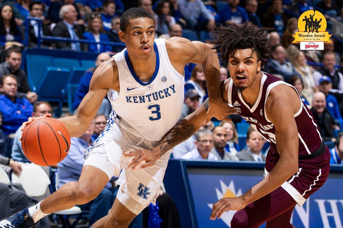 Kentucky Basketball Fox Named Sec Freshman Of The Week: Keldon Johnson, Reid Travis Named To National Player Of