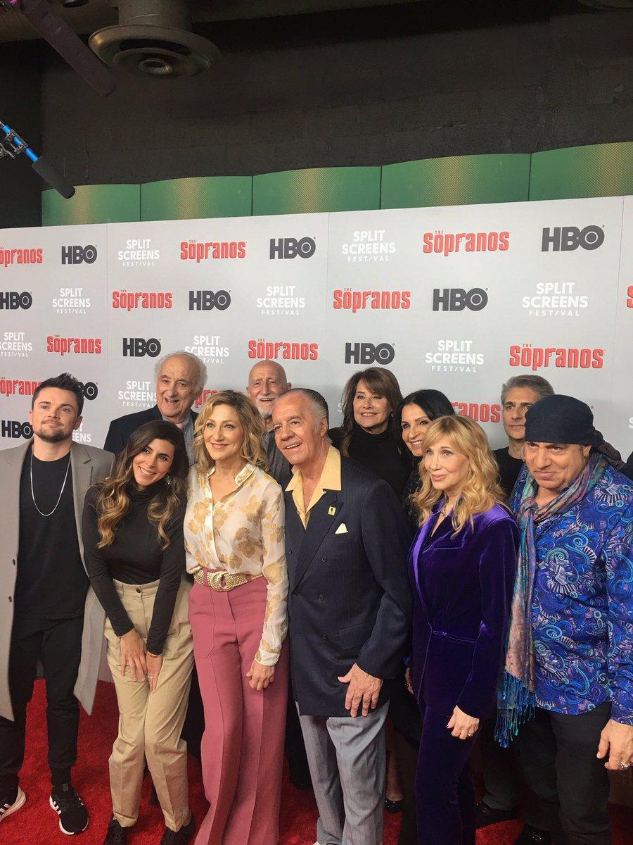 Tonight, cast & crew gather for a #Sopranos20 anniversary panel at @IFCCenter's @SplitScreensTV. @HBO #TheSopranosFilmFestival