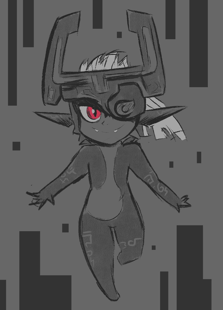 Quick &#39;lil sketch of Midna for #GamesDrawnQuick since I caught this run a bit later. Twilight Princess is one of my favorite zelda games! #AGDQ2019 <br>http://pic.twitter.com/cyGlEXuNN3