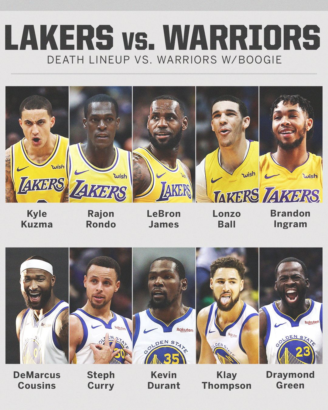 Could Kyle Kuzma's 'death lineup' take down the Warriors once they get Boogie back? https://t.co/W0Jh7nrU1T