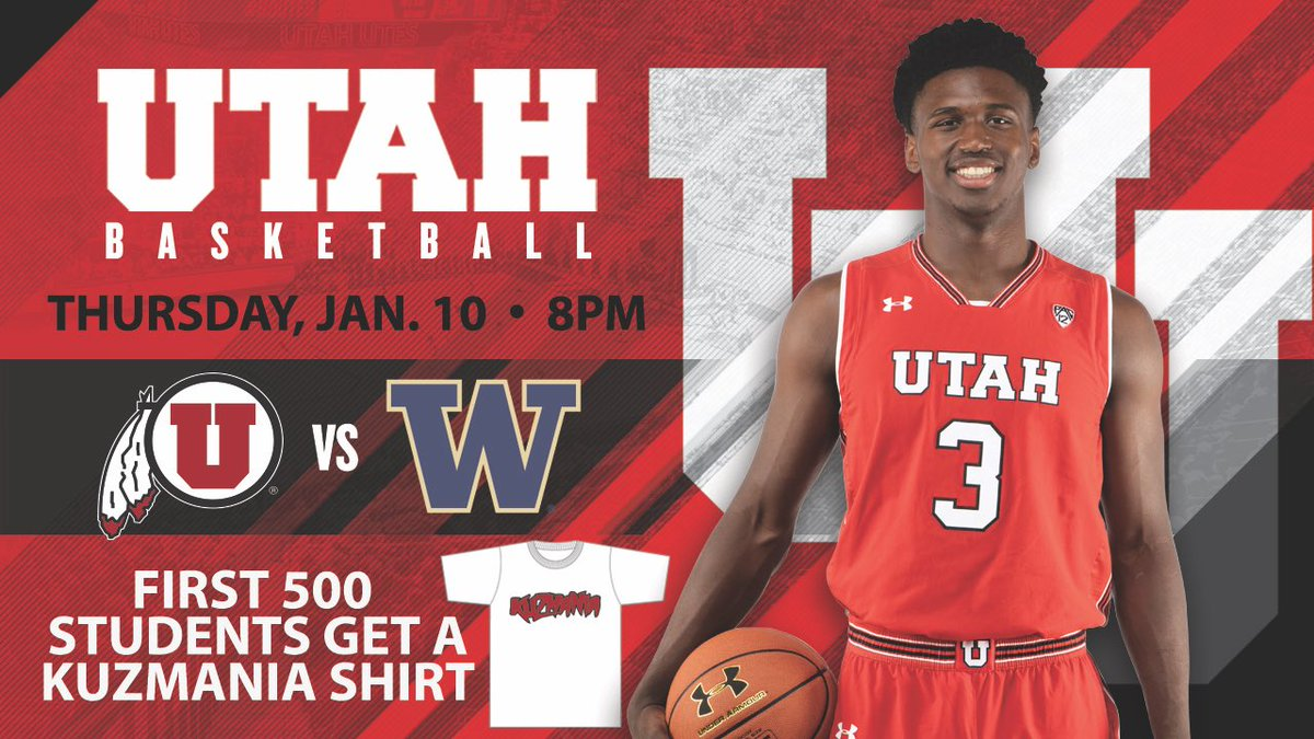 a12bf9a5129 Kyle Kuzma just dropped 41. We ve got free Kuzmania t-shirts for the first  500 students at the Utah-Washington game Thursday! Doors open at 6 30 pm
