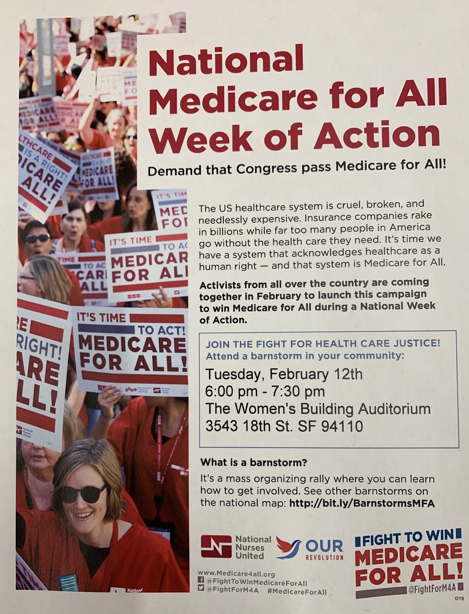 Medicare For All Barnstorm @ Women's Building