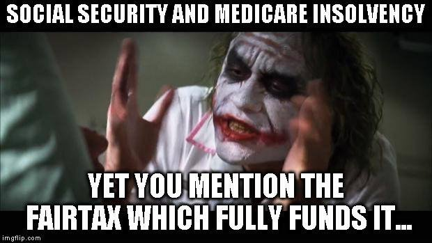 It is clear that unless there is alternative funding, SS is going to die. #FAIRtax is the fix. @MariaBartiromo @dagenmcdowell @MorningsMaria