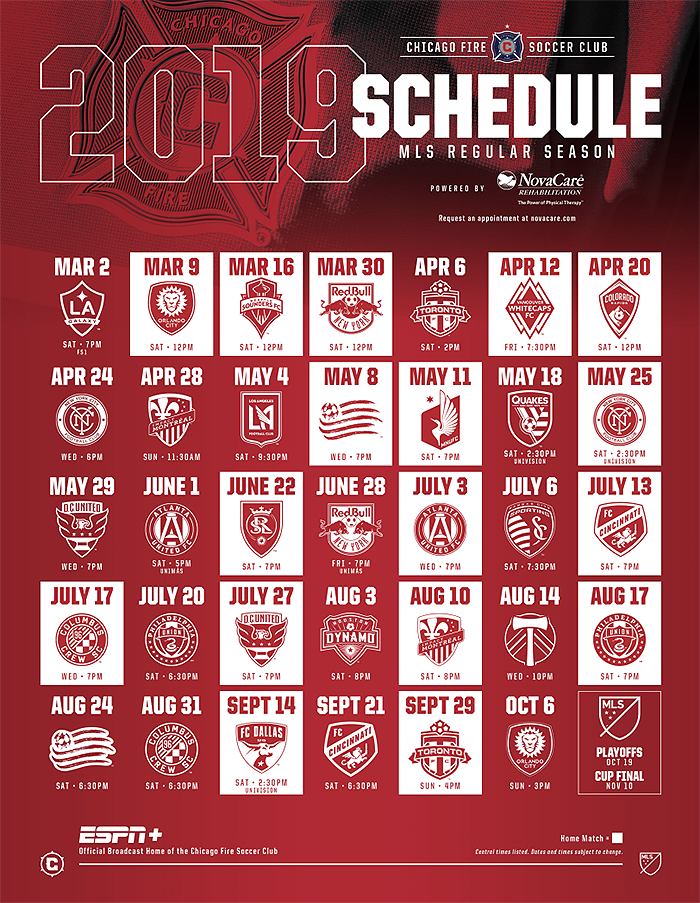 Chicago Fire Fc On Twitter Download And Print Our 2019
