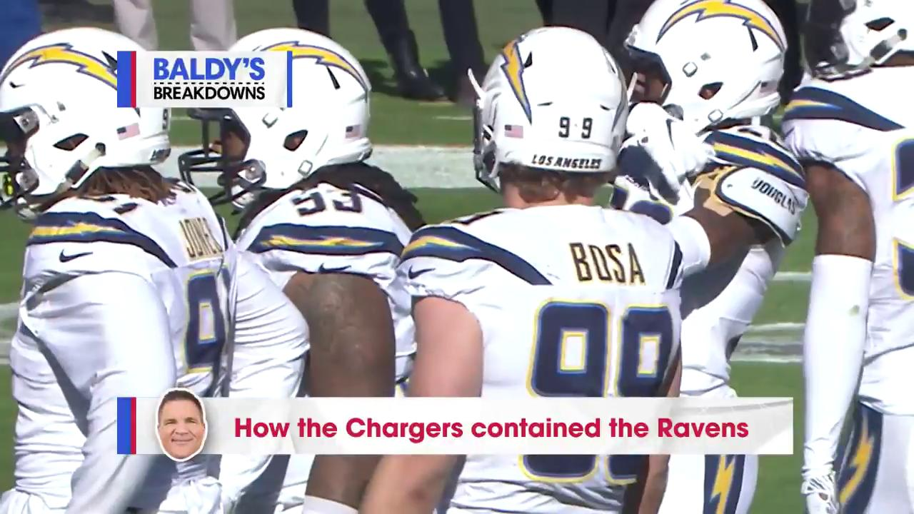 That Ravens run game: ��  Here's how the @Chargers stopped it. (via @BaldyNFL)  #FightForEachOther https://t.co/4F1pzm21tO