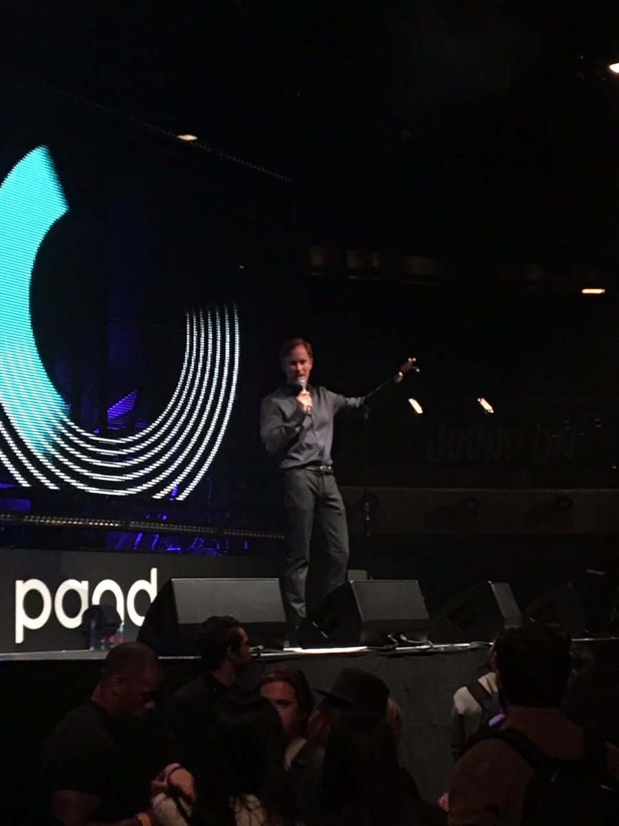 Our CEO @RogerLynch getting the crowd ready for weeeezy #LilWayne #CES2019 #PandoraCES