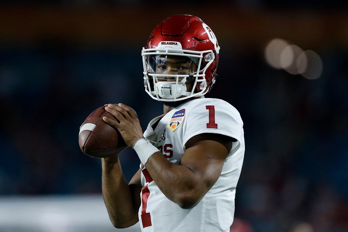 The Oakland A's are expecting Oklahoma QB Kyler Murray to declare for the 2019 NFL draft before Monday's deadline, the San Francisco Chronicle reports, citing multiple sources.