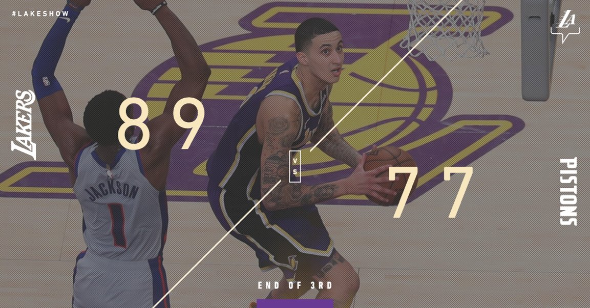 22 points in the third quarter.  41 in the game. 🔥🔥🔥 #KuzControl 🔥🔥🔥