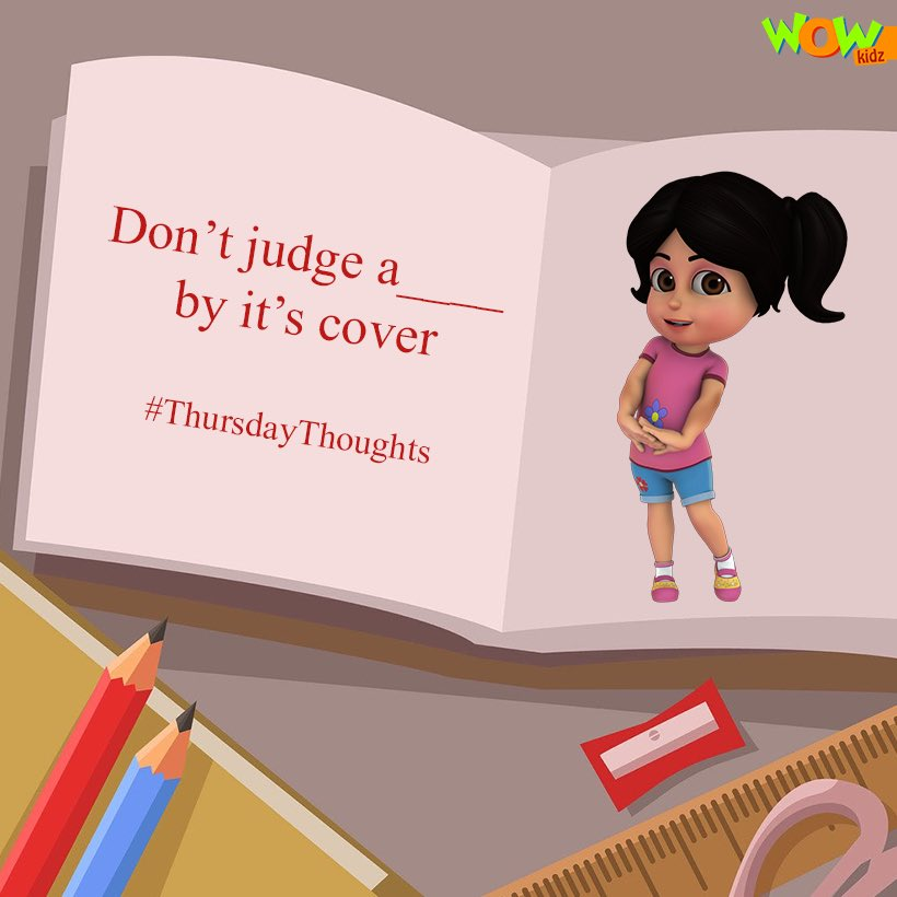 Hint: It is something you read📖! Can you guess the missing word✏️#thursdaythoughts 💭 #WowKidz #phrases #thoughtfortheday #famoussayings #thoughts #quotes #completethesentence #games #kidsgames #contest #contestalert #game #moms #kids #parenting #parentlife #fun #playtime