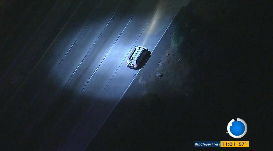 Watch #live: authorities chase stolen-vehicle suspect on sb