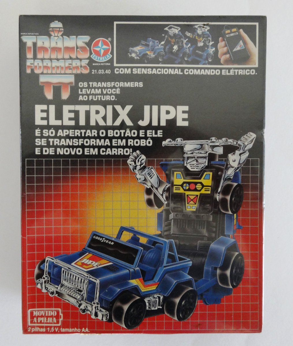 Electrix robocars, 2 Porsche and a Jeep, made and released by Estrela in Brazil under licence by Hasbro. 1985 #transformers #g1 #estrela