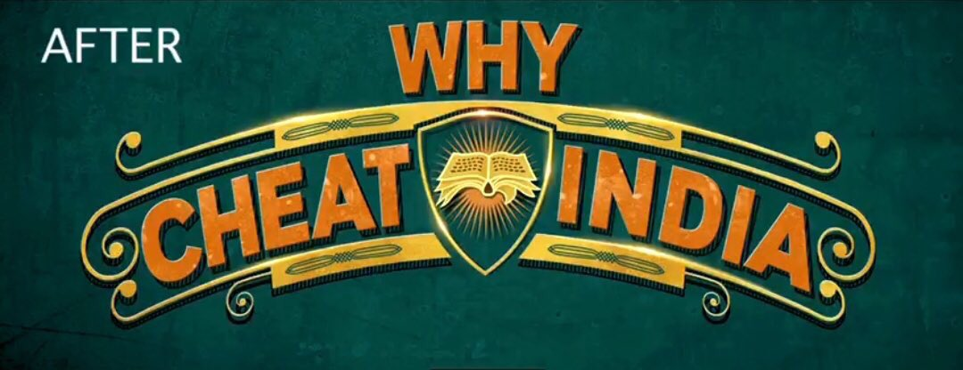 Ok so we have a name change...  #CheatIndia is now #WhyCheatIndia  But why...?!? Sigh 😔