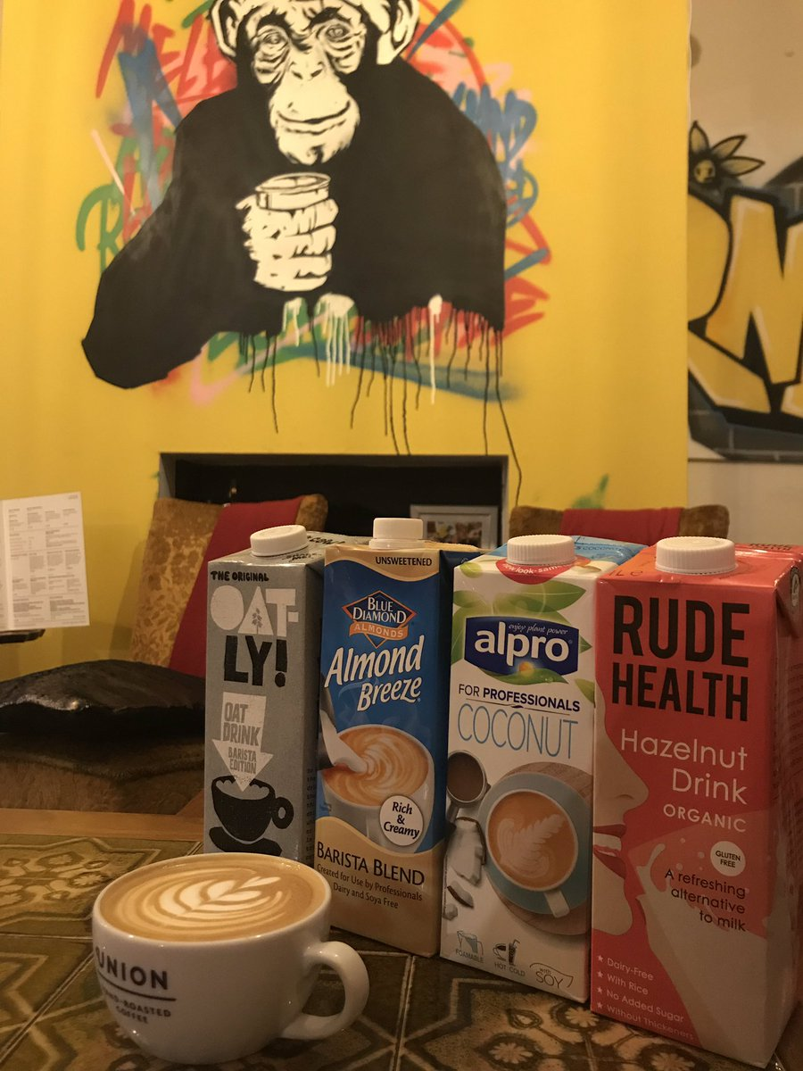 Someone asked us if we do alternate milks... why yes we do... coconut, almond, oat and hazelnut...but no soy as it doesn't compliment our specialty coffee. #dairyfree #vegan #veganuary #choices<br>http://pic.twitter.com/keG8VpMELp
