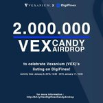 Image for the Tweet beginning: Join Vexanium X Digifinex Candy