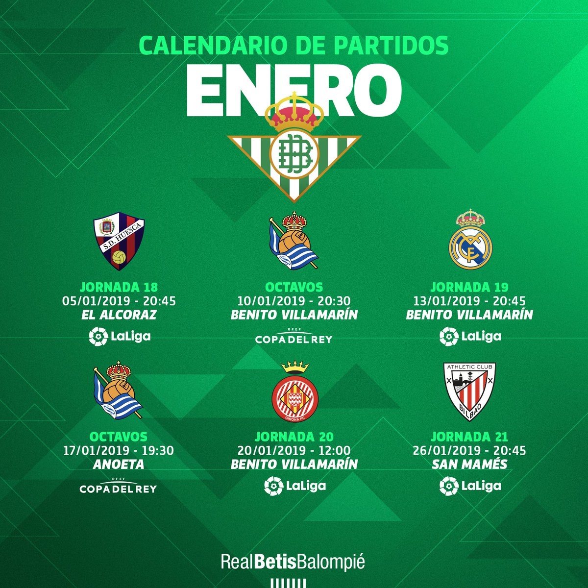 Calendario Liga Santander 2019 20 Betis.Calendario Del Real Betis