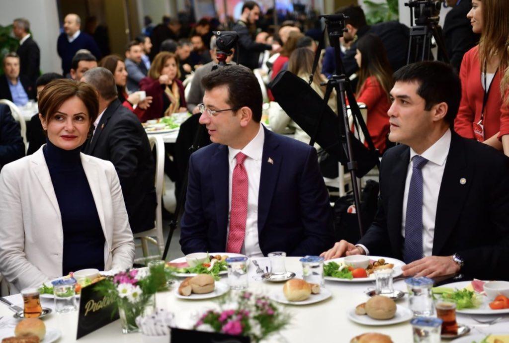 """Ekrem İmamoğlu on Twitter: """"İYİ Parti ve CHP İstanbul İl Başkanlıklarının ev sahipliğinde önemli bir buluşma gerçekleştirdik. Her iki partinin yöneticilerine seçim felsefemizi aktardım. İYİ Parti İl Başkanı Buğra Kavuncu ve CHP"""