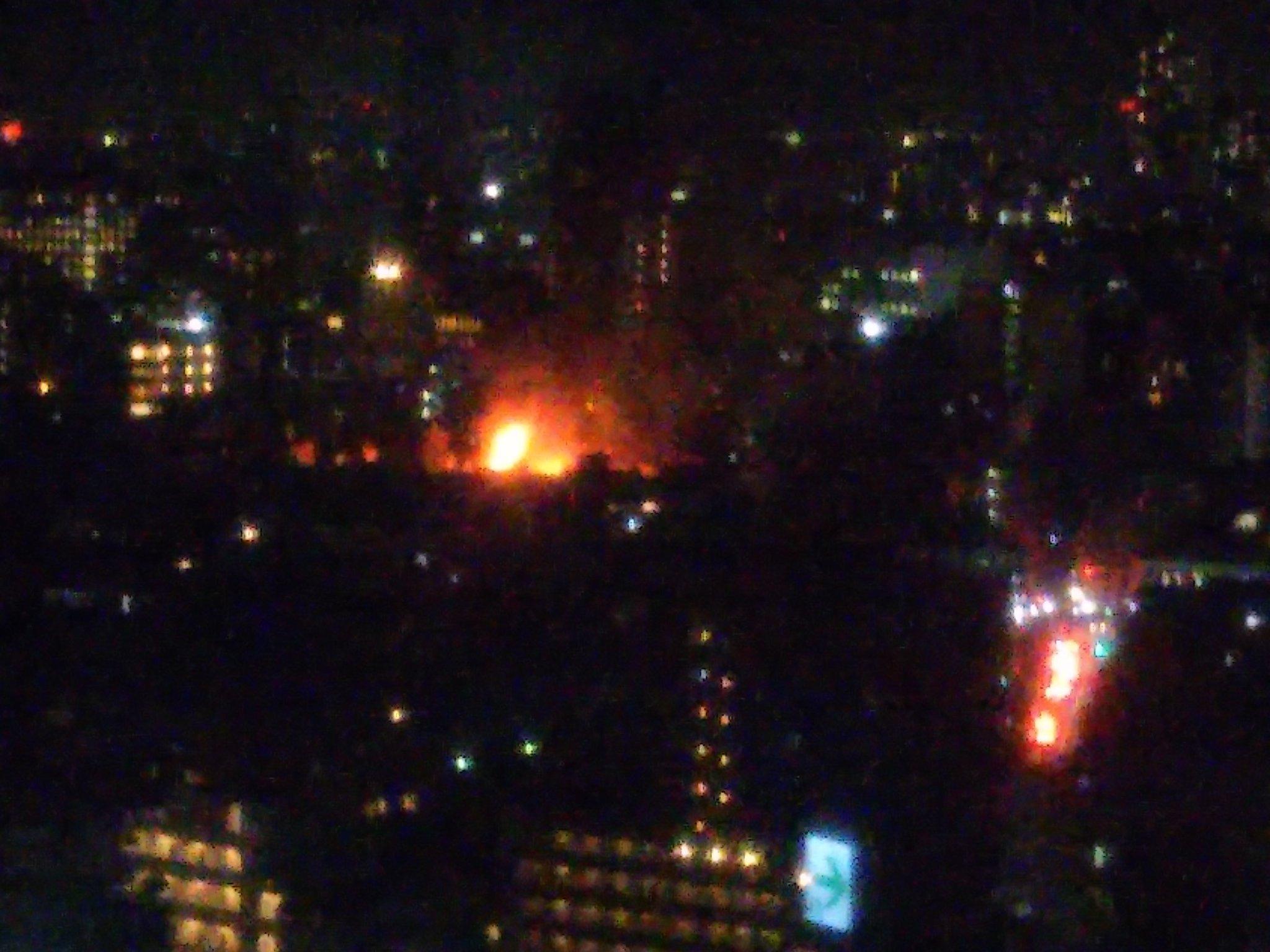 画像,火事のような炎が見える…#文京区 https://t.co/HeLjwMyj9E。