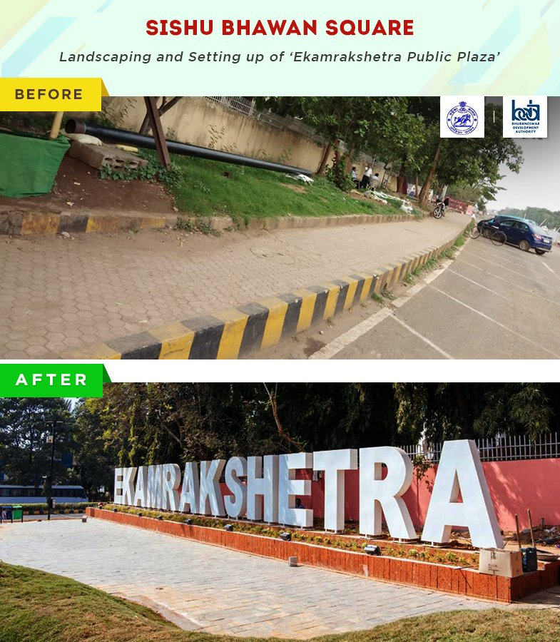 test Twitter Media - Transformations carry a vibe of positivity along, and not much was different with the wonderful changes that #Bhubaneswar has recently undergone. #SmarterAndAwesome  Here's the before and after pics! https://t.co/WgeB18k9kW