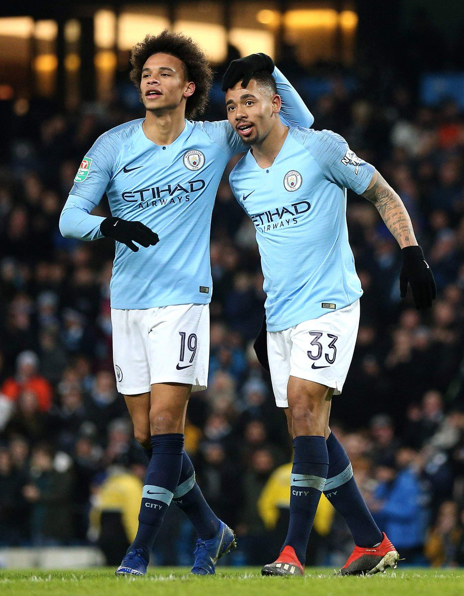 Very decent Wednesday night 🔥⚽🔥 @gabrieljesus33 on fire 👏🏾 #LS19 #inSané @ManCity