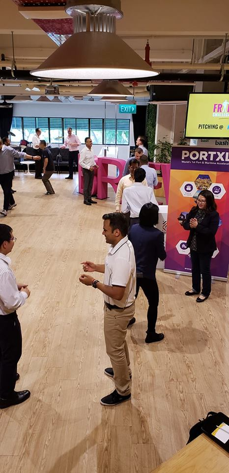 Meanwhile in #Singapore, Selection Days are buzzing with activity! Pictured: one of #pitch training sessions for #startups  to prepare the future #maritime #GameChangers to rapidly become the present!