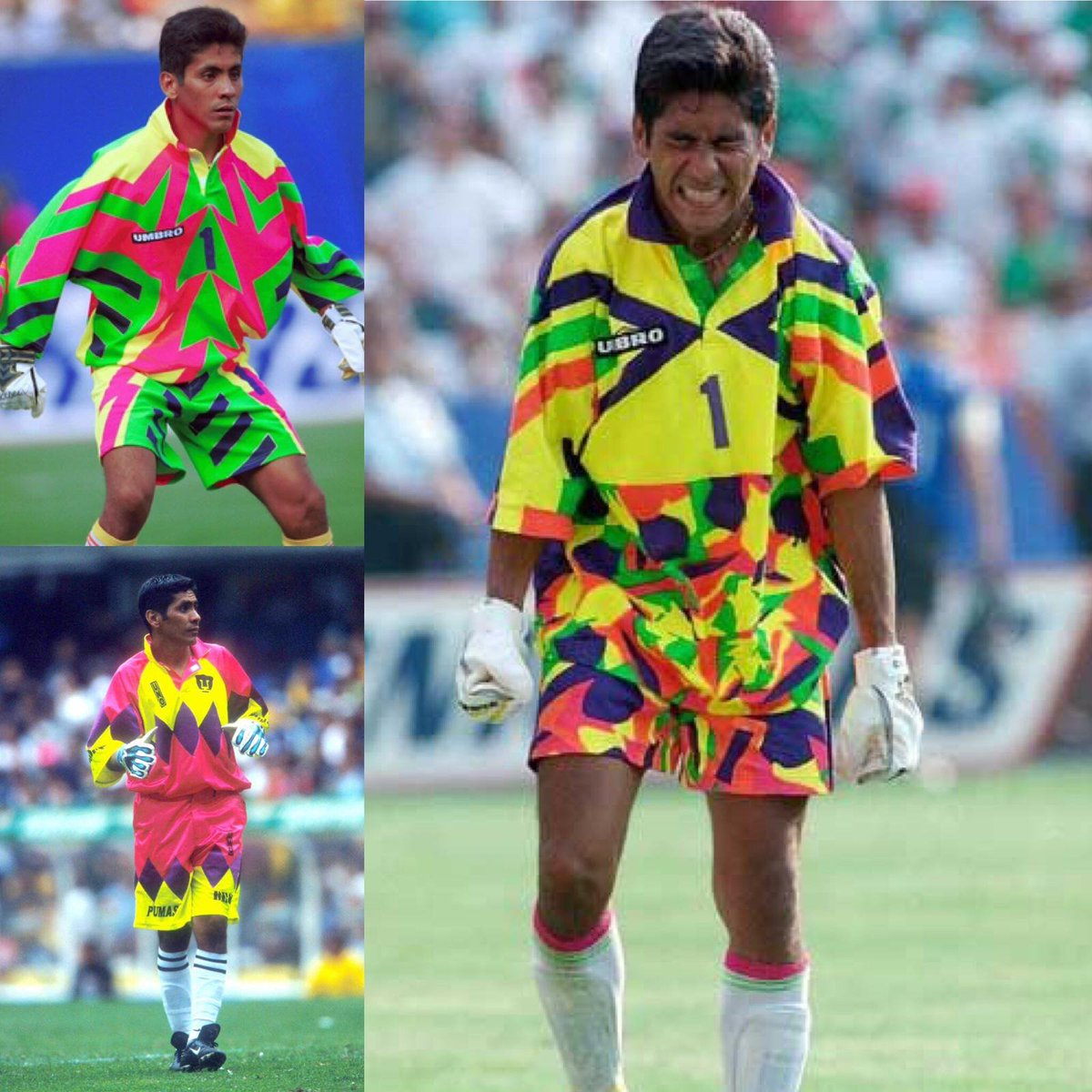 32red On Twitter They Don T Make Them Like Jorge Campos Anymore The 5 7 Mexican Goalkeeper Also Played As A Striker And Designed His Own Jerseys He Was Capped 130 Times By Mexico