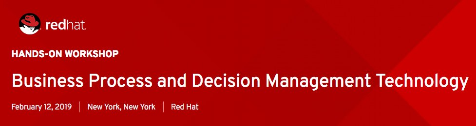 Please join @1Vizuri and @RedHatPartners on February 12th in NYC for a Hands-on Workshop using Process and Decision Management technologies.  Come learn about how Knowledge Management sets the foundation for your transformational efforts.    Register here: https://red.ht/2H4NuOt