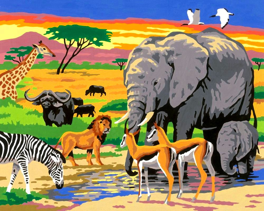 Рисунки животных из африки для детей