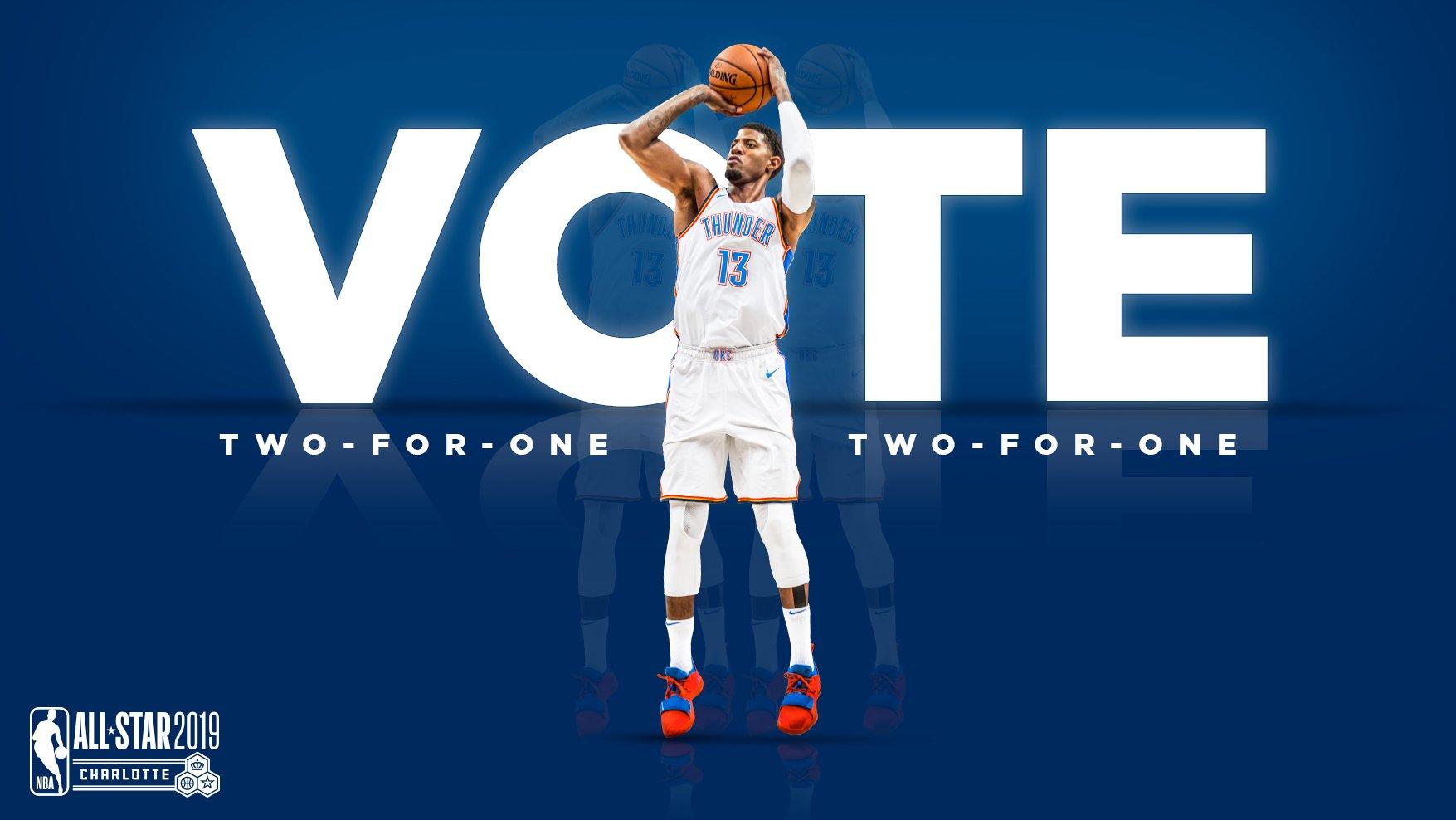 VOTE PAUL GEORGE NBA ALL-STAR  ⭐️: https://t.co/zRCS00RkF6   ⭐️: https://t.co/Kx43zI4pnJ https://t.co/5X9K0ayHcc