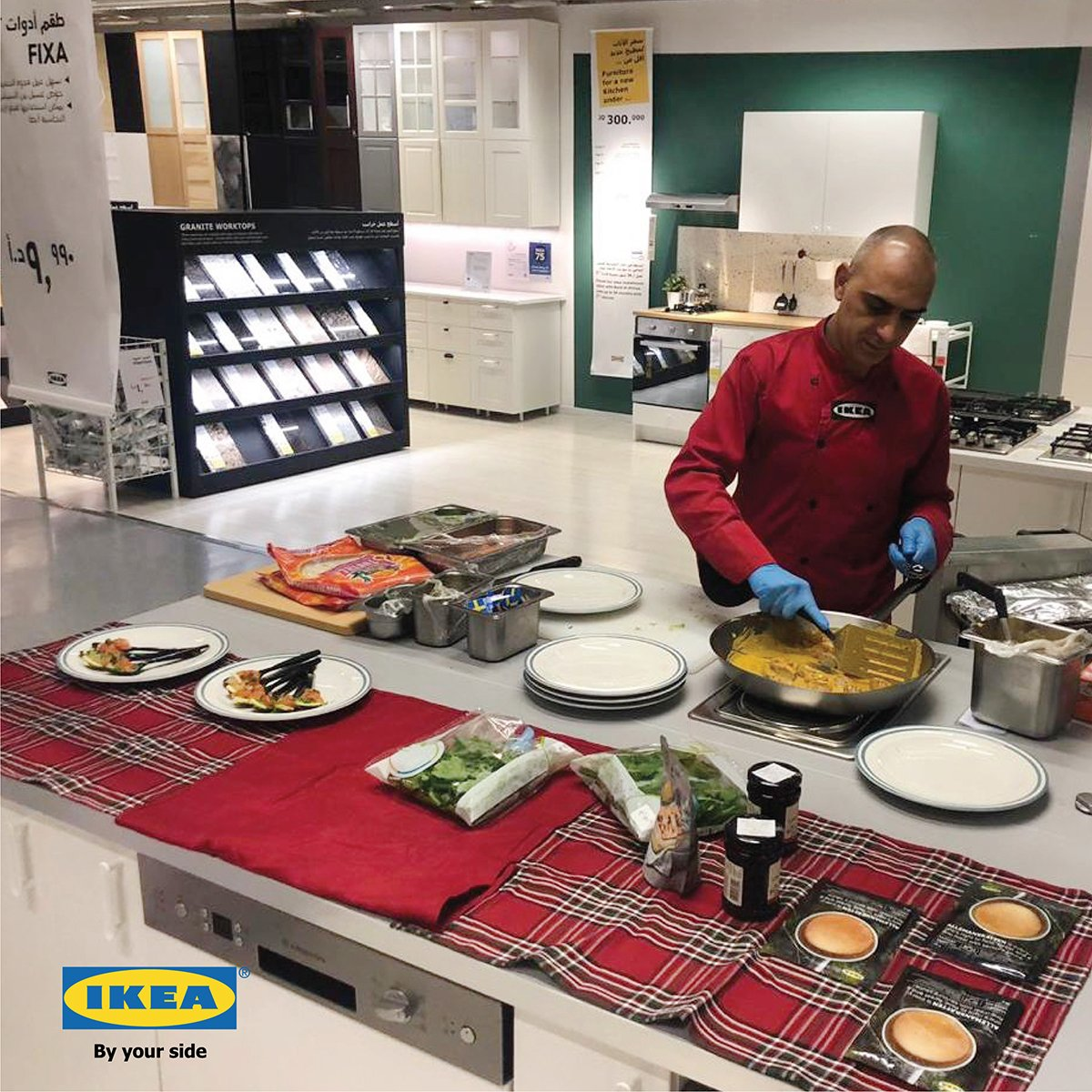 """IKEA Jordan on Twitter: """"Join us for a live cooking show that will"""